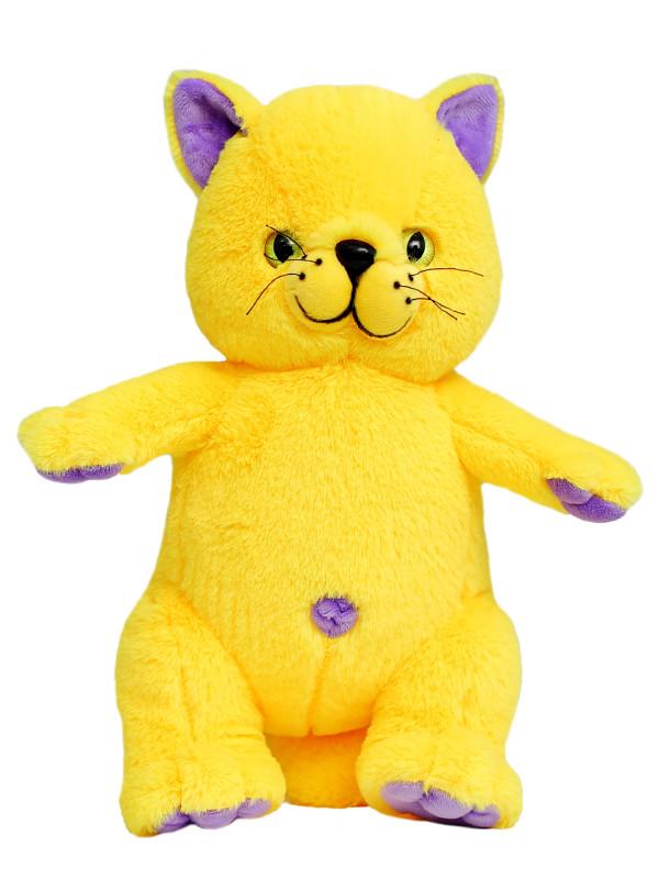 Мягкая игрушка Filius  Кот Филимон жёлтый,30см