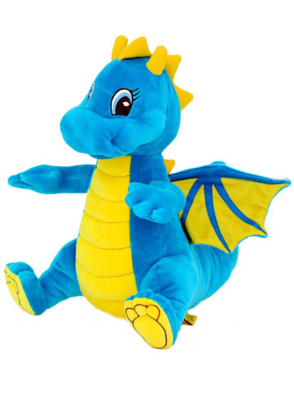 Мягкая игрушка Filius Дракончик Сапфир бирюзовый,35см