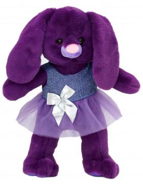 Мягкая игрушка Filius Зайка фиолетовая в платье 35см