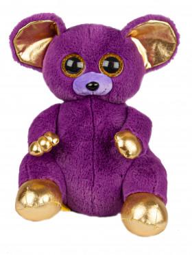 """Мягкая игрушка  Filius Мышка """"Лемур Дрим"""" фиолетовый, 30см"""