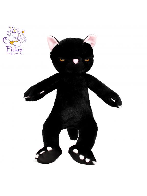 Мягкая игрушка Filius  Кот Бонд чёрный,30см