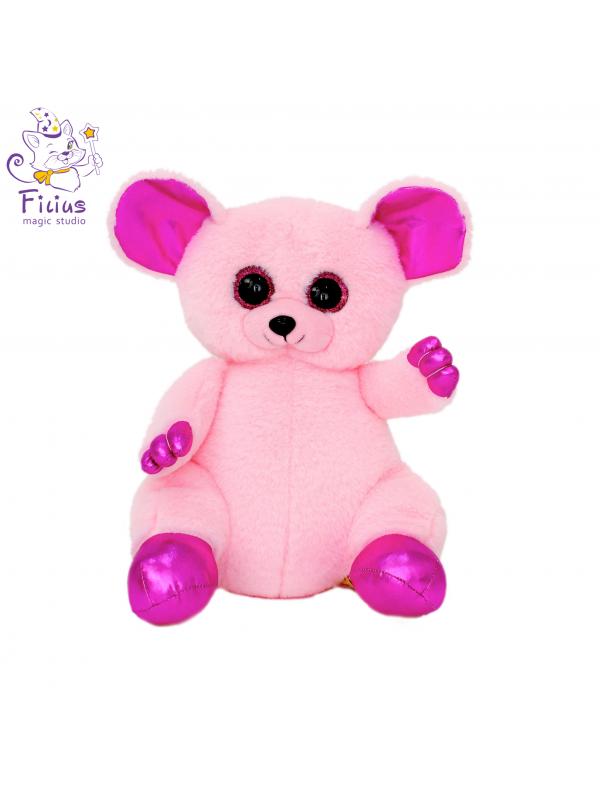 Мягкая игрушка Filius  мышка Лемур Бона розовый,30см