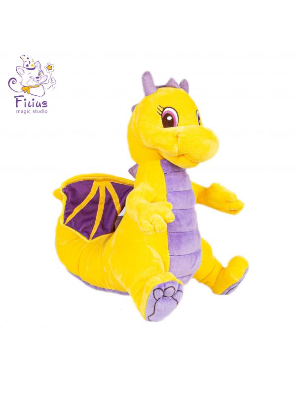 Мягкая игрушка Filius Дракончик Рамота жёлтый,35см