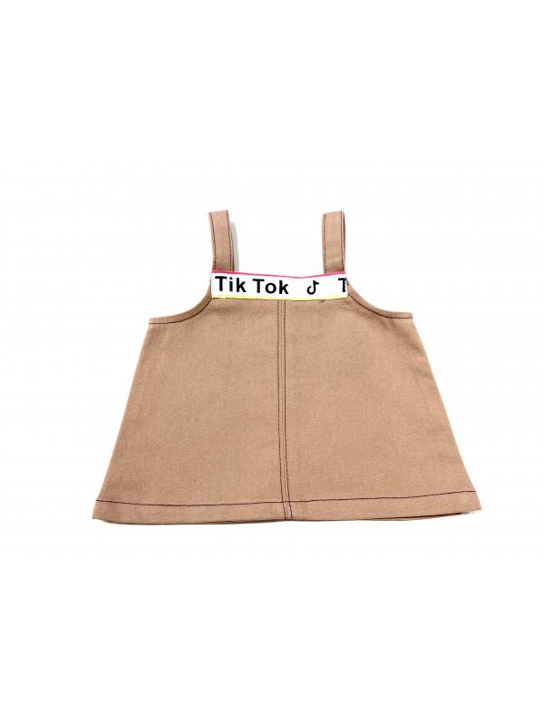 """Одежда для мягких игрушек Filius Сарафан """"Tik-Tok"""", бежевый"""