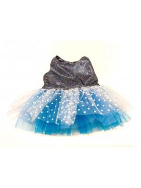 """Одежда для мягких игрушек Filius Платье фатин, """"Голубое cеребро"""""""