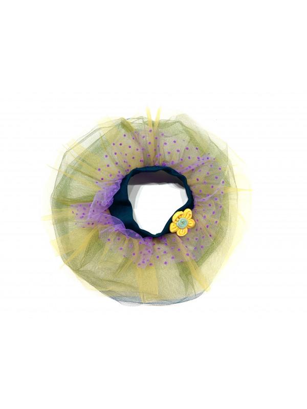 Одежда для мягких игрушек Filius Юбка фатин, желто-фиолетовая