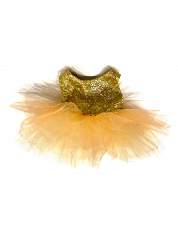 """Одежда для мягких игрушек Filius Платье фатин """"Золотой персик"""""""