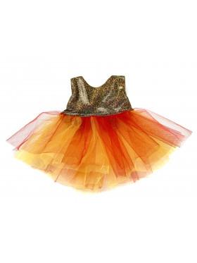 """Одежда для мягких игрушек Filius Платье """"Красное золото"""""""
