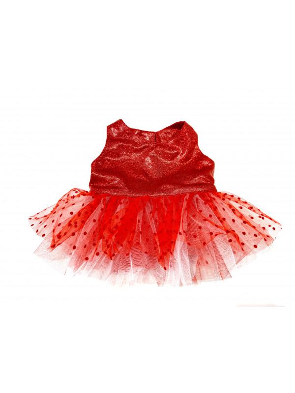 """Одежда для мягких игрушек Filius Платье Фатин """"Красное"""""""
