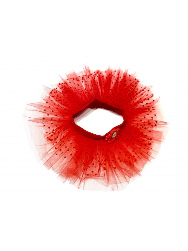 Одежда для мягких игрушек Filius Юбка фатин, красный
