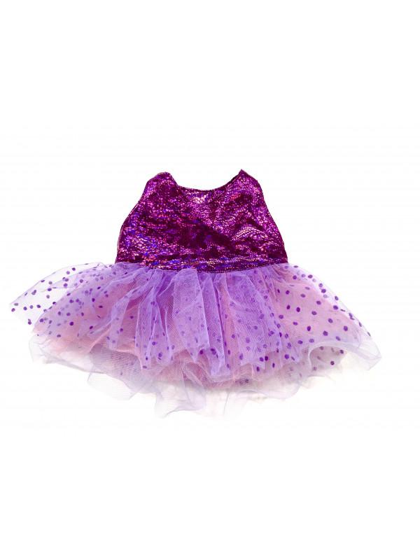"""Одежда для мягких игрушек Filius Платье фатин """"Фиолетовое"""""""
