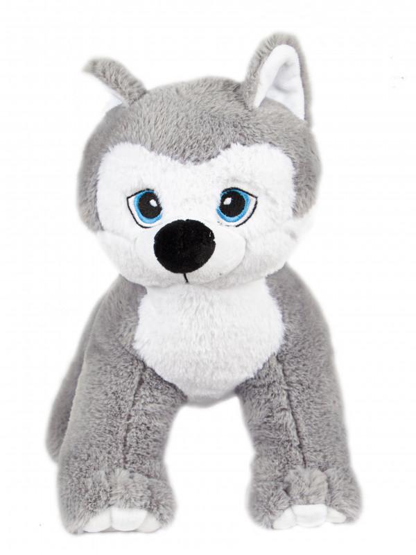 """Мягкая игрушка Filius Хаски """"Вульф"""", серый 30см"""