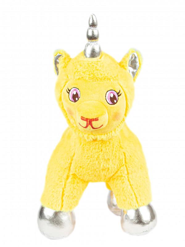 """Мягкая игрушка Filius единорог """"Злата"""", жёлтый 30см"""