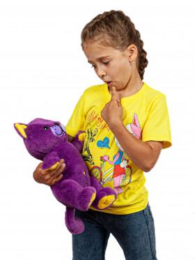 """Мягкая игрушка Filius Кот """"Филимон"""", фиолетовый 30см"""