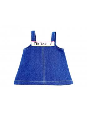 Одежда для мягких игрушек Filius Cарафан джинсовый, синий