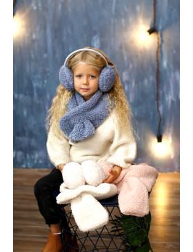 комплект Наушники+шарфик, серый