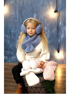 Комплект наушники + шарфик, серый